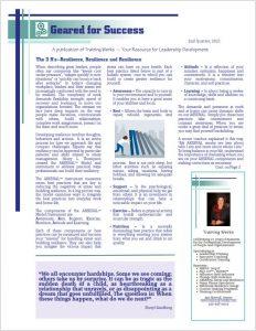 2nd Qtr 2021 - Geared for Success Newsletter