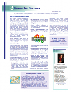 Geared for Success Newsletter – 3rd Qtr 2021 Image
